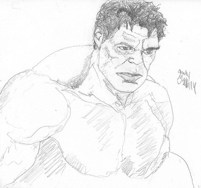 Drawn from a screen grab I did from the Avengers movie.
