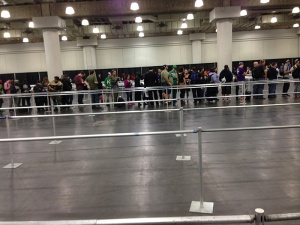 Mighty.. Mighty.. Power Ranger Autograph Line. Seriously, this was like 1/5 the actual line.