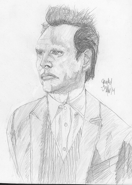I've tried to draw Boyd before and I'm happy that this one doesn't make him look like an alien from another world. Photo ref used.